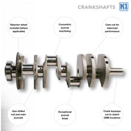 "K1 Crankshaft Forged Chevy LS1 4.100"" 24t Ring"