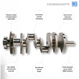"K1 Crankshaft forged Chevy 400 3.750 Stroke (6.000"" Rods)"