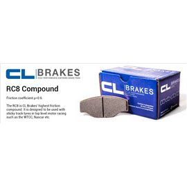 CL Brakes brake pad set 4005T17 RC8