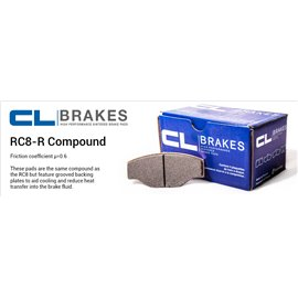 CL Brakes brake pad set 4072 RC8-R