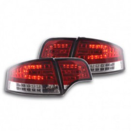 Led Rear lights Audi A4 saloon type 8E Yr. 04-07 red/clear