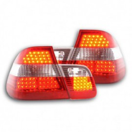 Led Rear lights BMW serie 3 E46 saloon Yr. 98-01 red/clear