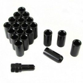 Japan Racing set of BLACK LONG imbus lug nuts 12x1,25 + Key