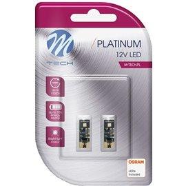 LB802W 12V T10 LED PIRN 2W W2,1X9,5D W5W CANBUS PLATINUM BLISTER 2TK (OSRAM LED) M-TECH