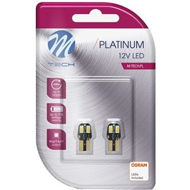 LB806W 12V T10 LED PIRN 2W W2,1X9,5D W5W CANBUS PLATINUM BLISTER 2TK (OSRAM LED) M-TECH
