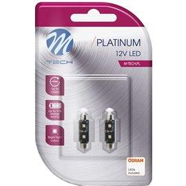 LB813W 12V SV8,5-8 LED PIRN 3,5W 36MM C5W CANBUS PLATINUM BLISTER 2TK(OSRAM LED) M-TECH