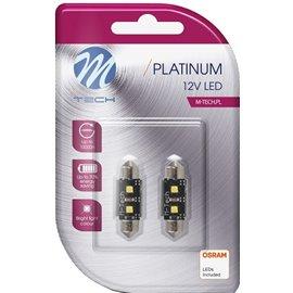 LB814W 12V SV8,5-8 LED PIRN 3,5W 41MM CANBUS PLATINUM BLISTER 2TK (OSRAM LED) M-TECH