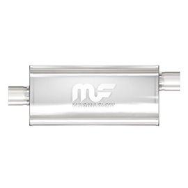 """MagnaFlow 5"""" X 8"""" Oval Center/Offset Straight Through Performance Muffler IN 2,5"""" OUT 2,5"""""""