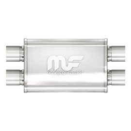 """MagnaFlow 4"""" X 9"""" Oval Dual/Dual Straight Through Performance Muffler IN 2,5"""" OUT 2,5"""""""