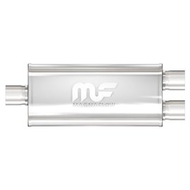"""MagnaFlow 5"""" X 8"""" Oval Center/Dual Straight Through Performance Muffler IN 2,5"""" OUT 2,5"""""""