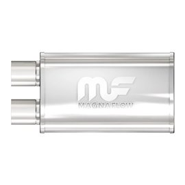 """MagnaFlow 5"""" X 8"""" Oval Offset/Offset Same End Straight Through Performance Muffler IN 2,5"""" OUT 2,5"""""""