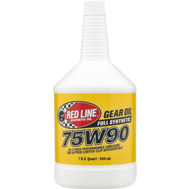 Red Line Oil 75W90 GL-5 GEAR OIL 945ml (1 US quart)
