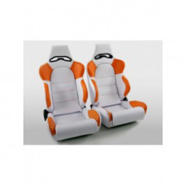 Sportseat Set Edition 1 artificial leather white/orange