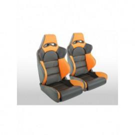 Sportseat Set Edition 1 artificial leather black/orange