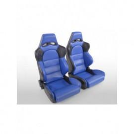 Sportseat Set Edition 1 artificial leather blue/black
