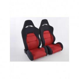 Sportseat Set Edition 3 fabric red /black