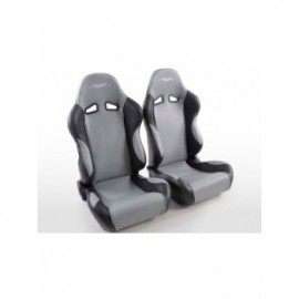 Sportseat Set SCE-Sportive 1 artificial leather grey/black
