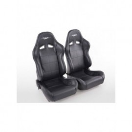 Sportseat Set SCE-Sportive 1 artificial leather black