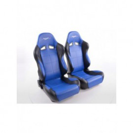 Sportseat Set SCE-Sportive 1 artificial leather blue/black