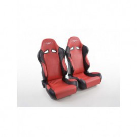 Sportseat Set SCE-Sportive 1 artificial leather red /black