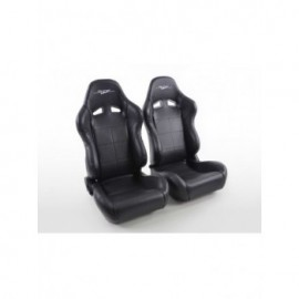 Sportseat Set SCE-Sportive 2 artificial leather black