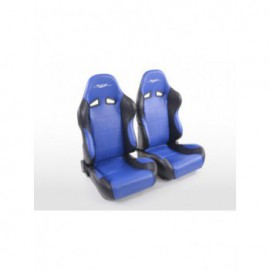 Sportseat Set SCE-Sportive 2 artificial leather blue/black