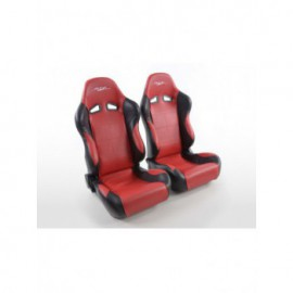 Sportseat Set SCE-Sportive 2 artificial leather red /black