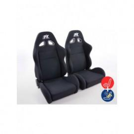 FK sport seats half bucket seats Set Sport textile black with heating and massage