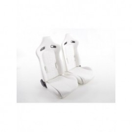 Sportseat Set Halbschalensitz artificial leather white seam black