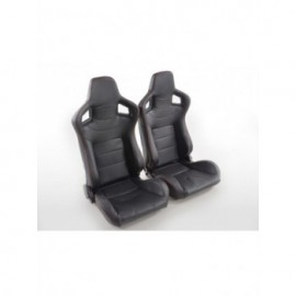 Sportseat Set Halbschalensitz Carbon artificial leather black