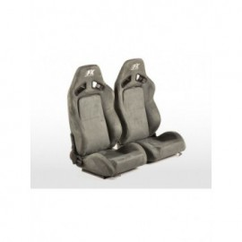 FK sport seats half bucket seats Set Leipzig artificial leather grey