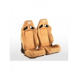 FK sport seats half bucket seats Set Leipzig artificial leather beige