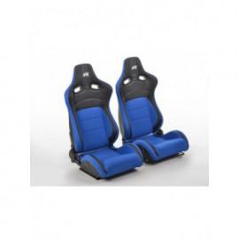 FK sport seats half bucket seats Set Köln artificial leather/textile black/blue