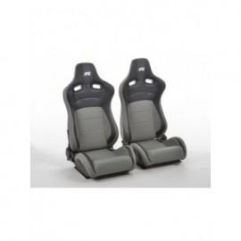 FK sport seats half bucket seats Set Köln artificial leather/textile black/grey