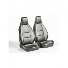 FK sport seats half bucket seats Set Hamburg artificial leather black/grey