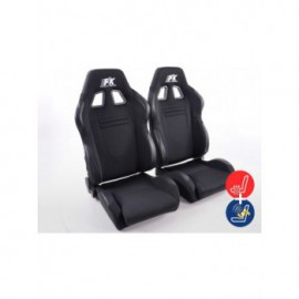 FK sport seats half bucket seats Set Racecar with heating and massage