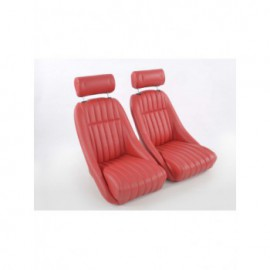 Sportseat Set Classic 2 artificial leather Red / with headrest