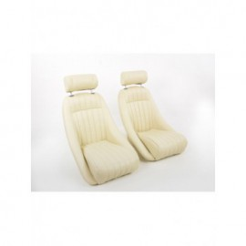 Sportseat Set Classic 2 artificial leather beige with headrest