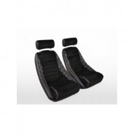 Sportseat Set Classic 3 artificial leather black with headrest