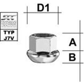 M1415KUOD MUTTER PKM14X1,50/20/19 (PALL R13, AVATUD, P20, CH19)