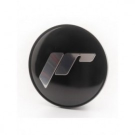 Japan Racing Cap Sticker for C087 - Black + Silver Letters