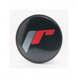 Japan Racing Cap Sticker for C087 - Black + Silver/Red Letters