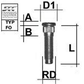 M1/2RE50FO TIKKPOLT TP1/2/42,5/15,65 (P55/42,5, D15,65) M1/2RE50FO