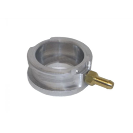 Radiator Neck Billet M/C, with outlet tube union. Accepts standard radiator cap