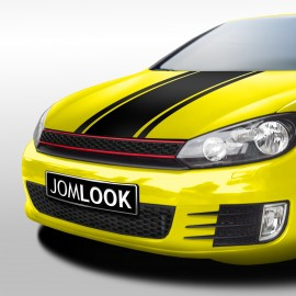 Front bumper in sports design with grill and fog lights suitable for VW Golf 6