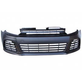 Front bumper in sports design with grill and daytime running lights suitable for VW Golf 6