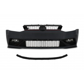 Front bumper in sports design incl. honeycomb grille and fog lights with HCS suitable for VW Polo 5 facelift (6C, 6R), year 2014