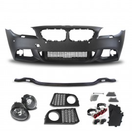 Front bumper with PDC holes HCS and fog lights for BMW 5er F10 Limousine year 01.2010-06.2015 and F11 Touring year 04.2010-