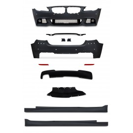 Body Kit incl. side skrits and fog lights with PDC holes suitable for BMW 5 series F10 year 2010-2013