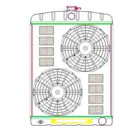 """GRIFFIN 1-70210 alu radiator 26""""X19"""""""